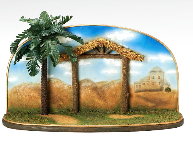 Fontanini 5 Inch Scale Stable Scene with Palm