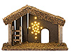 Fontanini 5 Inch Scale LED Lighted Nativity Stable