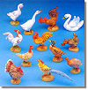 5 Inch Scale Barnyard Birds - Set by Fontanini