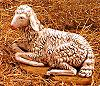 50 Inch Scale Seated Sheep by Fontanini