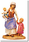 5 Inch Scale Rebekah, Aram and Adel - Wife and Mother with Children by Fontanini
