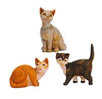 7.5 Inch Scale Cat's - 3 Piece Set by Fontanini