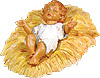 27 Inch Scale Infant Jesus with Manger by Fontanini