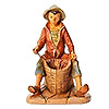 Fontanini 5 Inch Scale Allon the Basket Weaver