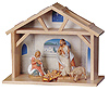 3.5 Inch Scale 4 Piece My First Nativity Set with Stable by Fontanini