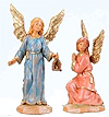 2 Pc 3.5 Inch Scale Kneeling and Standing Angel by Fontanini