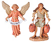 3.5 Inch Scale 2 Piece Gloria Angel and Noah the Shepherd by Fontanini