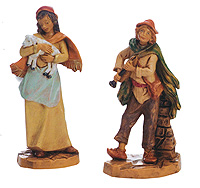 3.5 Inch Scale Joan and Daniel by Fontanini