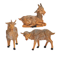 3.5 Inch Scale Goats - Set of 3 by Fontanini