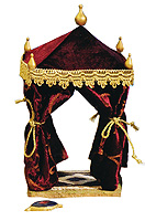 5 Inch Scale Red King's Tent by Fontanini