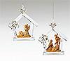 Fontanini Holy Family and Kneeling Angel Ornaments - Set of 2 - Available May 2015