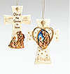 Fontanini Holy Family 2 Sided Cross Ornament - Available July 2015