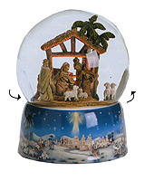 Musical Nativity Glitterdome - Tune: Oh Little Town of Bethlehem by Fontanini
