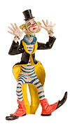 Fontanini Clown with Hands on Ears by Fontanini