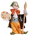 Fontanini Clown with Paint Brush by Fontanini
