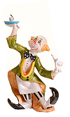 Fontanini Clown with Coffee Cup by Fontanini