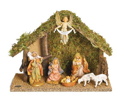 5 Inch Scale 7 Piece Nativity Set By
